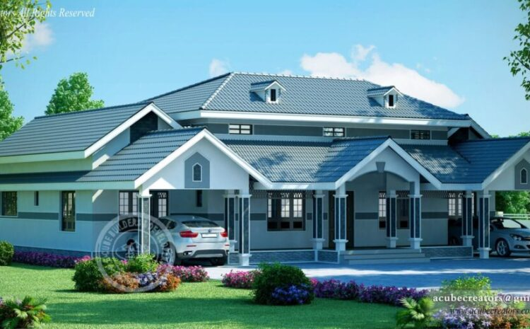 Colonial House Design At Thrissur