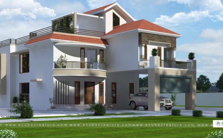 European Style House In Kerala