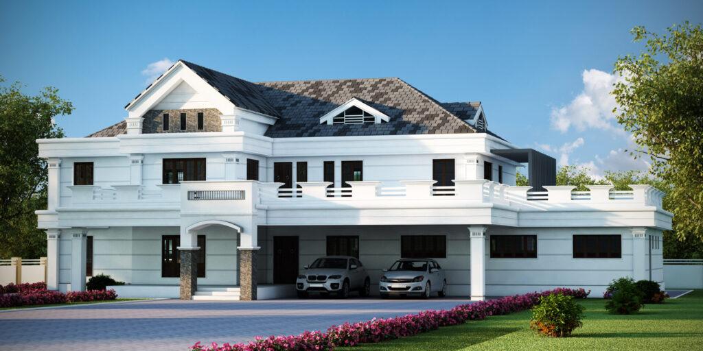 Colonial House Design Kerala