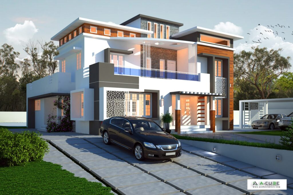 Low Budget Contemporary House In Kerala